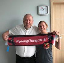 Weronika Biela z Piotrem Voigtem uśmiechają się do obiektywu